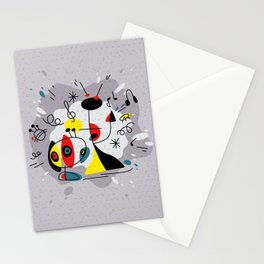 Music inspired by Joan Miro#illustration Stationery Cards