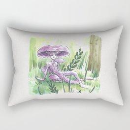 Empire of Mushrooms: Laccaria Amethystina Rectangular Pillow