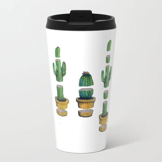 cactus art Metal Travel Mug