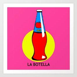 La Botella Mexican Loteria Card Art Print