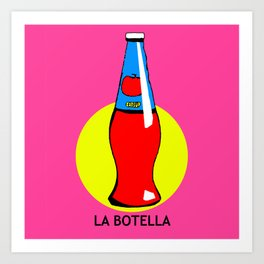 La Botella Mexican Loteria Card Art Print