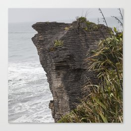 Pancake rocks New Zealand Canvas Print