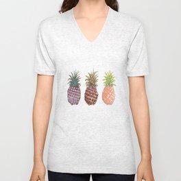 Pineapple Trio Unisex V-Neck