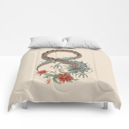 Botanical Flower Dragon 8 Comforters