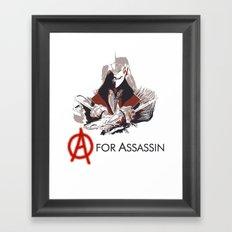 A for Assassin Framed Art Print