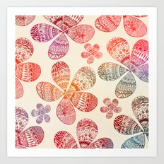 Storied Flowers Art Print