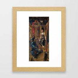 King Cophetua and the Beggar Maid,  Edward Burne-Jones, 1880 -1884 Framed Art Print
