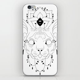 Mandala Sphynx iPhone Skin