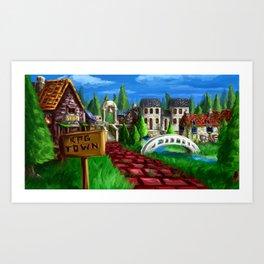 RPG Town Art Print