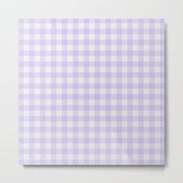 Gingham Pattern - Lilac Metal Print