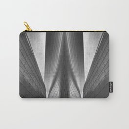 Architectural abstract captured in black and white from low perspective rendering a dramatic view. Carry-All Pouch