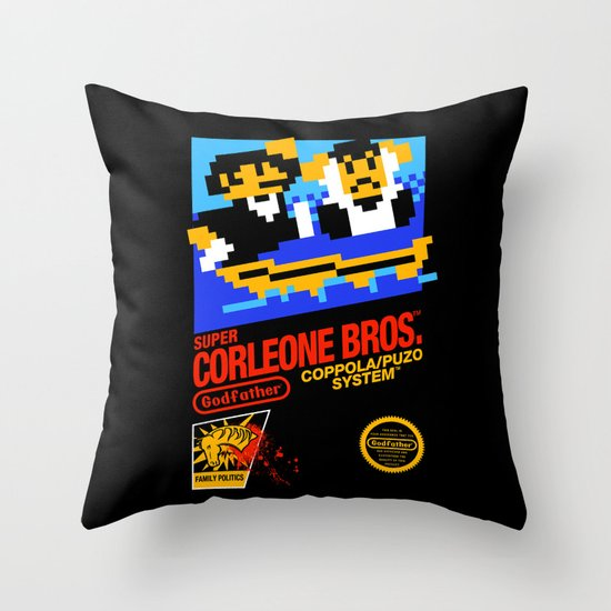 Super Corleone Bros Throw Pillow