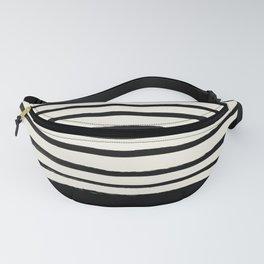 Black x Stripes Fanny Pack