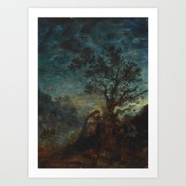"""Gustave Moreau """"Christ in the Garden of Olives"""" Art Print"""