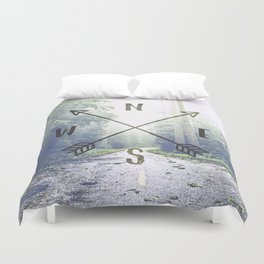 Forest Compass Duvet Cover