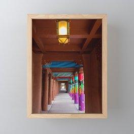 IAIA Museum Porch Santa Fe NM Framed Mini Art Print