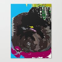 james franco Canvas Prints featuring Franco by niki b
