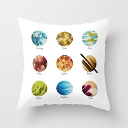 Away from Home and Back Throw Pillow