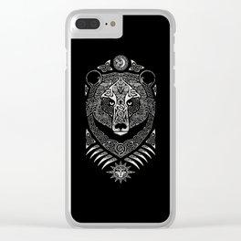 Scandinavian bear Clear iPhone Case