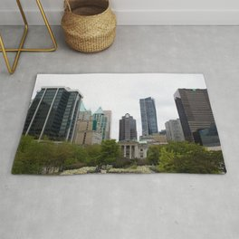Vancouver from Robson Square Rug