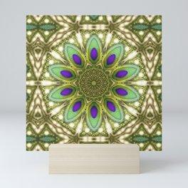 Peacock Healing Light Mandala Mini Art Print