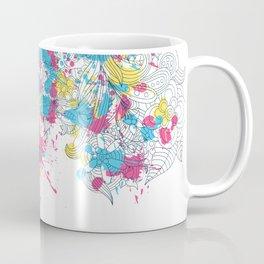 Skull Flower Splatter Coffee Mug