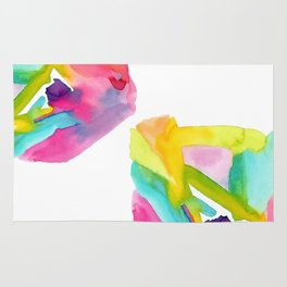 Follow Your Heart - watercolor abstract minimalism modern art Rug