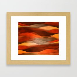 """Sea of sand and caramel waves"" Framed Art Print"