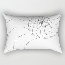 Nautilus Spiral Rectangular Pillow