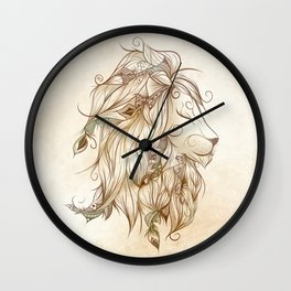 Poetic Lion Wall Clock