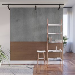 Concrete-Touch of a Wood Wall Mural
