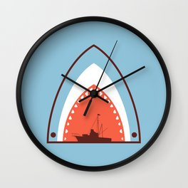 Great White Attack Wall Clock