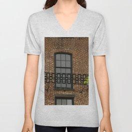 Savannah Warehouse Window Unisex V-Neck