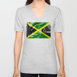 Jamaica Flag Unisex V-Neck