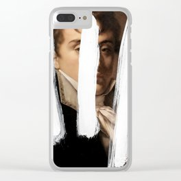 Brutalized Portrait of a Gentleman 2 Clear iPhone Case