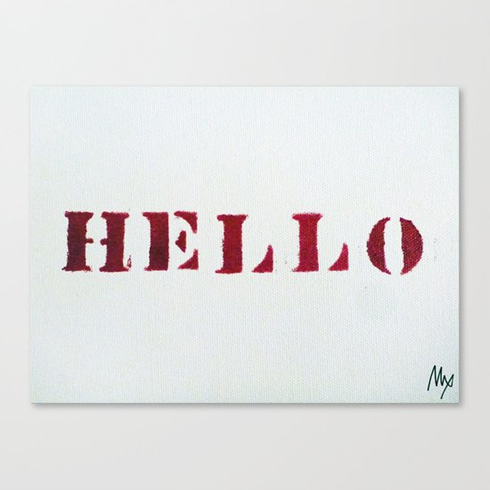 Hello You Canvas Print