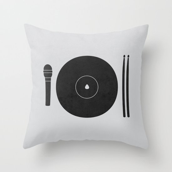 hungry to rock Throw Pillow
