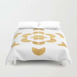 HEXAHEDRON CUBE sacred geometry Duvet Cover