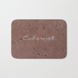 Cabernet Wine Red Travertine - Rustic - Rustic Glam Bath Mat