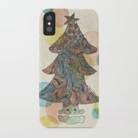 christmas tree iPhone & iPod Cases featuring Christmas Tree by sinonelineman