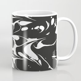 Black and White Marble Surface Design Coffee Mug