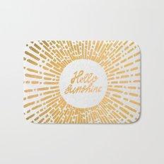 Hello Sunshine Gold Bath Mat