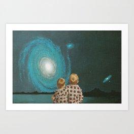 Neighboring Galaxies Art Print