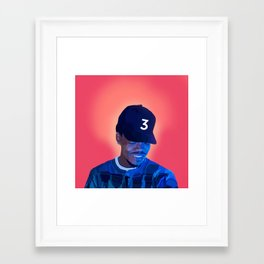 Chance The Rapper Framed Art Print