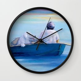 Heading Toward the Light Wall Clock