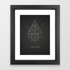 Carpe noctem Framed Art Print