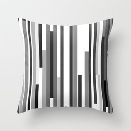 White Lines Throw Pillow