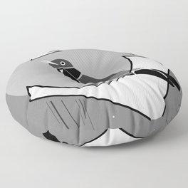 Singing mockingbird at night Floor Pillow
