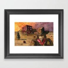 Sunset Showdown Framed Art Print