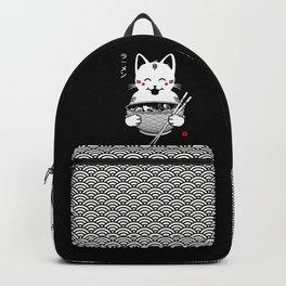 Happy Ramen Cute Cat Backpack
